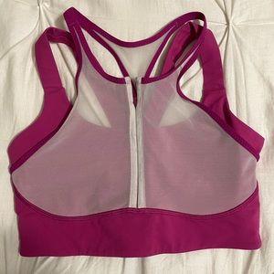 pink athleta bra